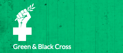 Green & Black Cross logo