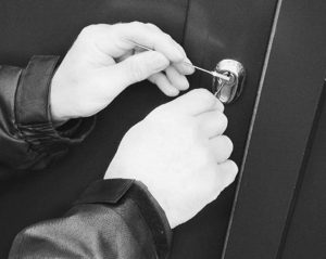 Photo of someone picking a lock